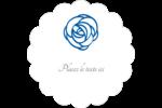 Roses bleues officielles Étiquettes festonnées - gabarit prédéfini. <br/>Utilisez notre logiciel Avery Design & Print Online pour personnaliser facilement la conception.
