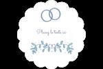Réservez la date bleu Étiquettes festonnées - gabarit prédéfini. <br/>Utilisez notre logiciel Avery Design & Print Online pour personnaliser facilement la conception.