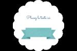 Ruban turquoise Étiquettes festonnées - gabarit prédéfini. <br/>Utilisez notre logiciel Avery Design & Print Online pour personnaliser facilement la conception.