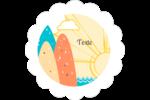 Surfeur rétro Étiquettes festonnées - gabarit prédéfini. <br/>Utilisez notre logiciel Avery Design & Print Online pour personnaliser facilement la conception.