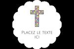 Croix en vitrail Étiquettes D'Adresse - gabarit prédéfini. <br/>Utilisez notre logiciel Avery Design & Print Online pour personnaliser facilement la conception.