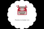 Machine à écrire Étiquettes D'Adresse - gabarit prédéfini. <br/>Utilisez notre logiciel Avery Design & Print Online pour personnaliser facilement la conception.