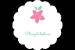 Craie florale Étiquettes festonnées - gabarit prédéfini. <br/>Utilisez notre logiciel Avery Design & Print Online pour personnaliser facilement la conception.