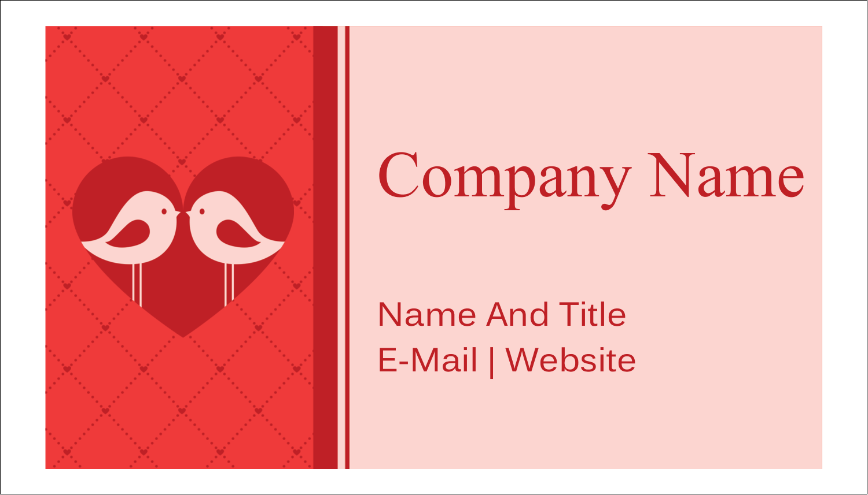 "2"" x 3½"" Business Card - Love Birds"