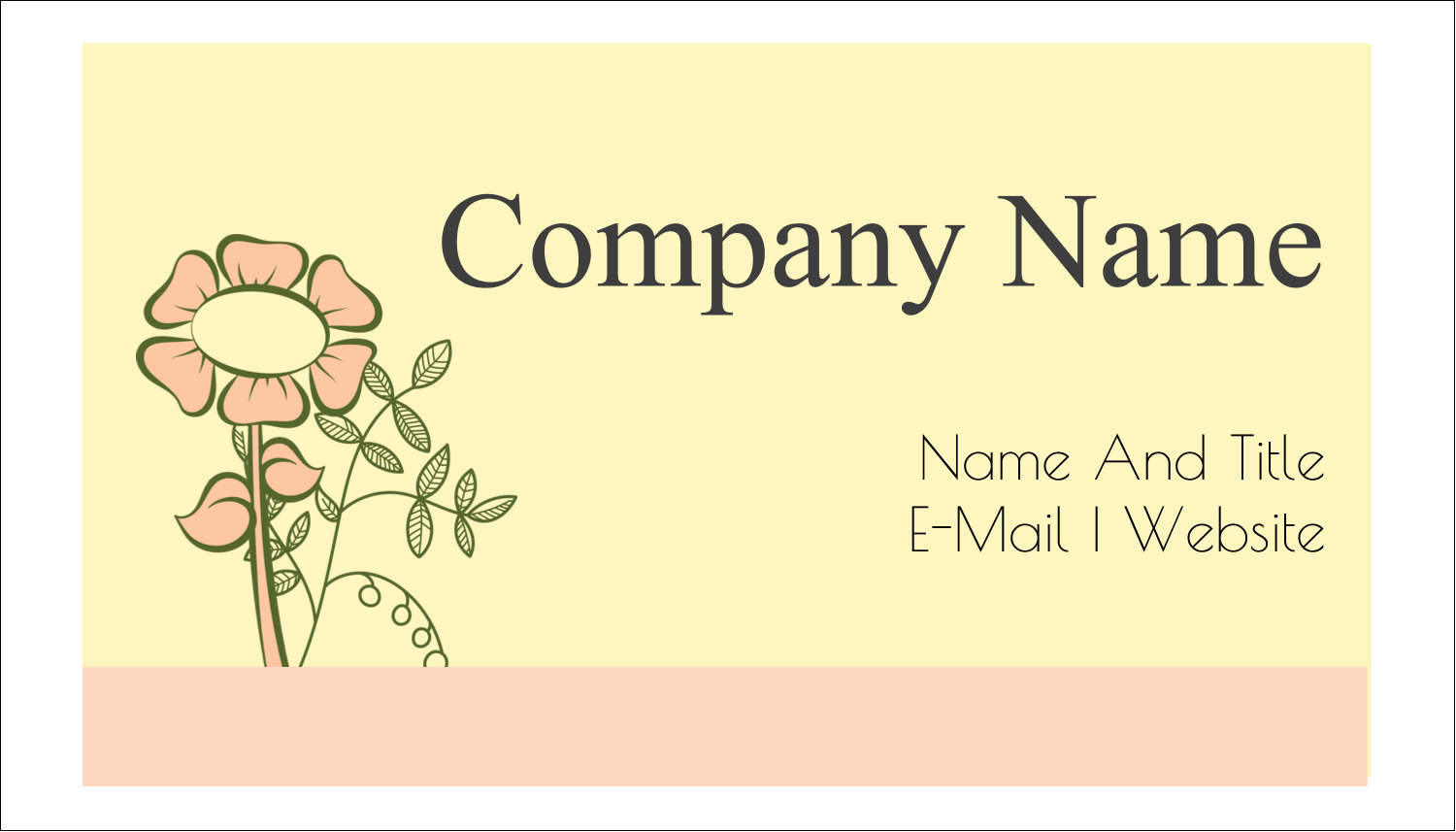 "2"" x 3½"" Business Card - Flower Sketch"