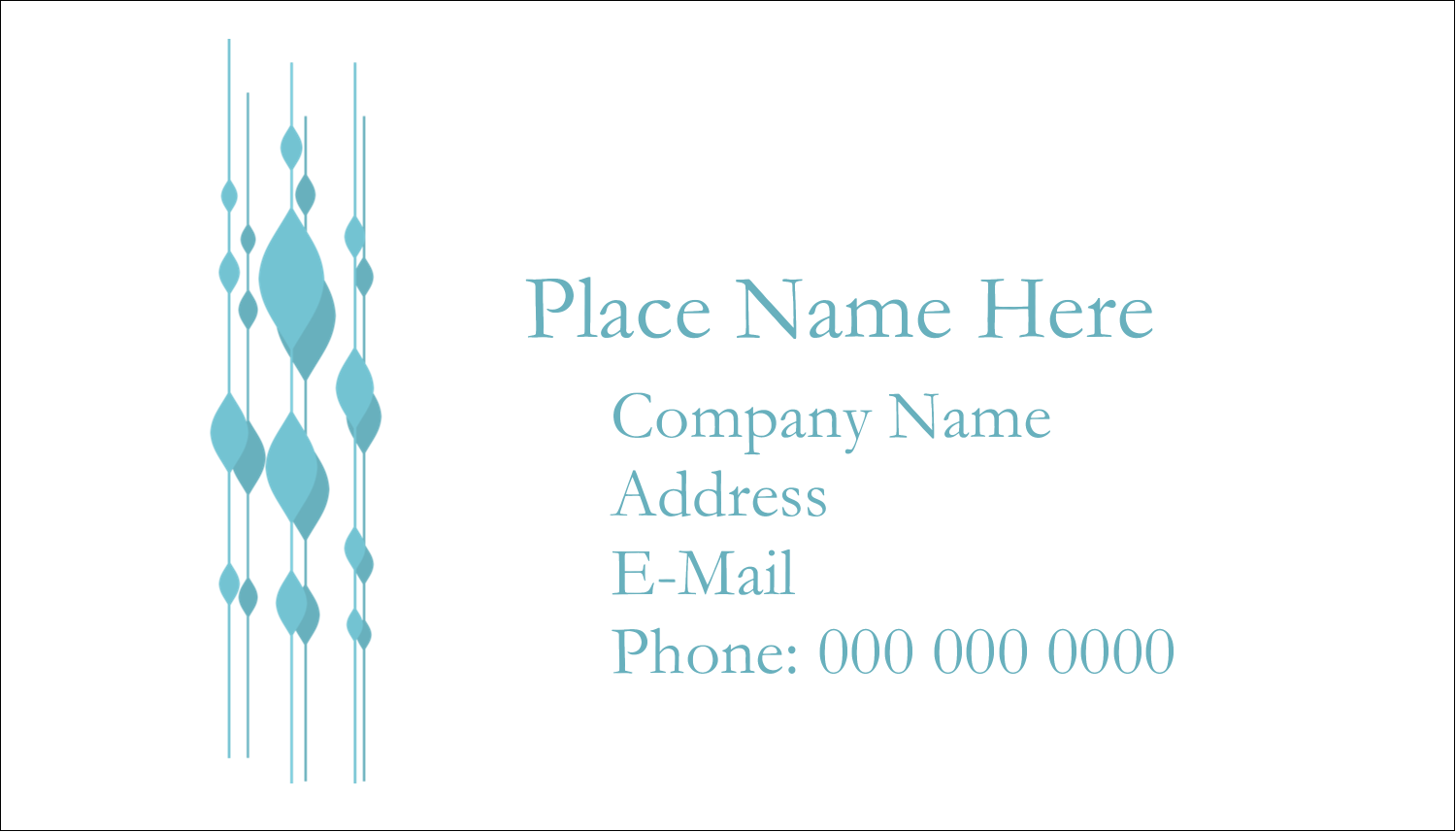 "2"" x 3½"" Business Card - Blue Bead Curtain"