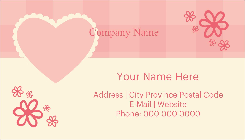 "2"" x 3½"" Business Card - Valentine Gingham"
