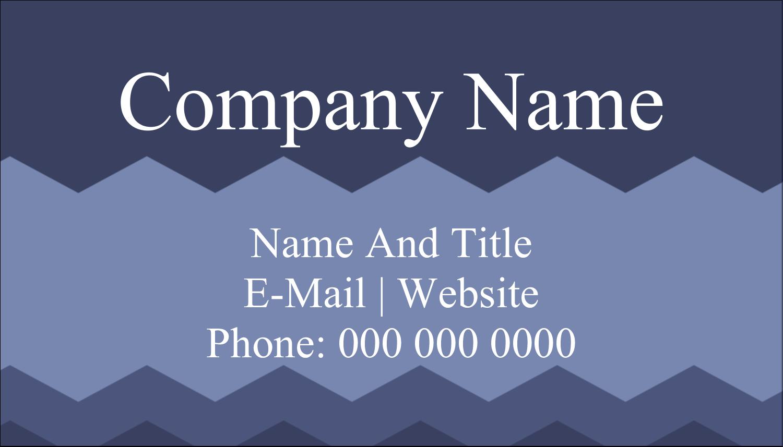 """2"""" x 3½"""" Business Card - Blue Chevron"""