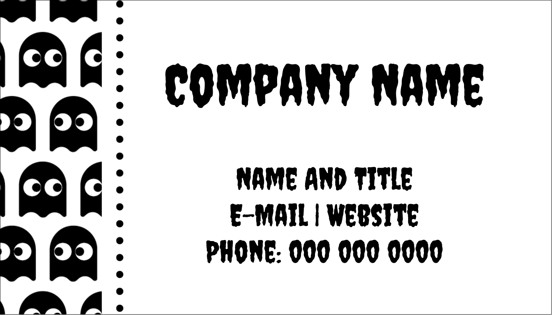 "2"" x 3½"" Business Card - Halloween Pac-Man Ghosts"
