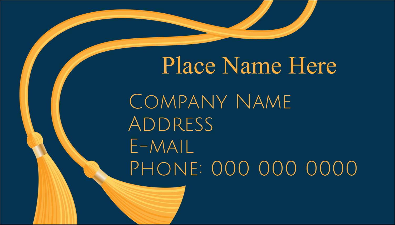 """2"""" x 3½"""" Business Card - Grad Tassel"""