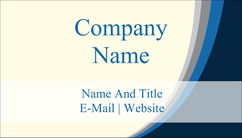 "2"" x 3½"" Business Card - Blue Wave"