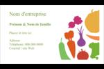 Panier de légumes Carte d'affaire - gabarit prédéfini. <br/>Utilisez notre logiciel Avery Design & Print Online pour personnaliser facilement la conception.
