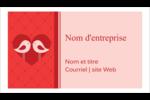 Oiseaux amoureux Cartes Pour Le Bureau - gabarit prédéfini. <br/>Utilisez notre logiciel Avery Design & Print Online pour personnaliser facilement la conception.