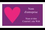 Rang de cœurs de la Saint-Valentin Cartes Pour Le Bureau - gabarit prédéfini. <br/>Utilisez notre logiciel Avery Design & Print Online pour personnaliser facilement la conception.