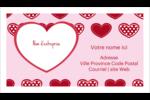 Cœur de Saint-Valentin Cartes Pour Le Bureau - gabarit prédéfini. <br/>Utilisez notre logiciel Avery Design & Print Online pour personnaliser facilement la conception.
