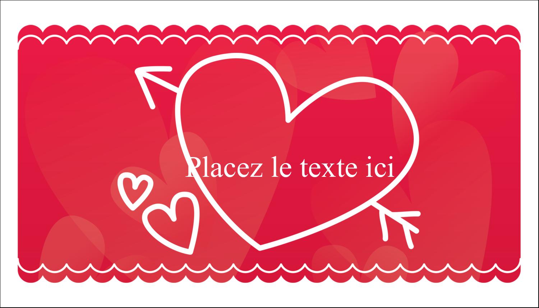 """3"""" x 5"""" Cartes Pour Le Bureau - Dessin de la Saint-Valentin"""