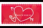 Dessin de la Saint-Valentin Cartes Pour Le Bureau - gabarit prédéfini. <br/>Utilisez notre logiciel Avery Design & Print Online pour personnaliser facilement la conception.