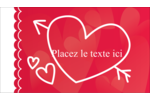 Dessin de la Saint-Valentin Carte d'affaire - gabarit prédéfini. <br/>Utilisez notre logiciel Avery Design & Print Online pour personnaliser facilement la conception.