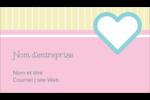 Cœur bleu Carte d'affaire - gabarit prédéfini. <br/>Utilisez notre logiciel Avery Design & Print Online pour personnaliser facilement la conception.