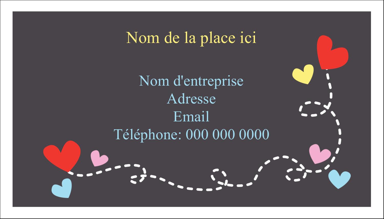"""3"""" x 5"""" Cartes Pour Le Bureau - Saint-Valentin sur fond noir"""