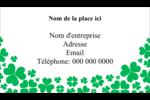 Pluie de trèfles de la Saint-Patrick Carte d'affaire - gabarit prédéfini. <br/>Utilisez notre logiciel Avery Design & Print Online pour personnaliser facilement la conception.