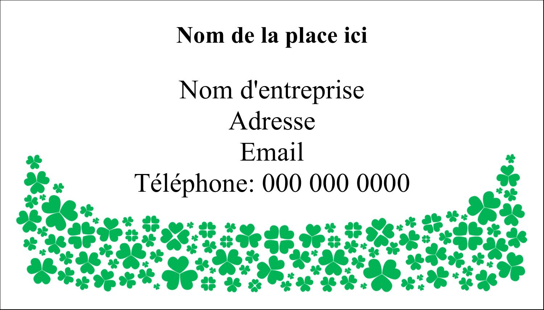 """3"""" x 5"""" Cartes Pour Le Bureau - Pluie de trèfles de la Saint-Patrick"""