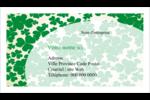 Arrière-plan de trèfles de la Saint-Patrick Cartes Pour Le Bureau - gabarit prédéfini. <br/>Utilisez notre logiciel Avery Design & Print Online pour personnaliser facilement la conception.