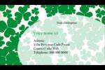 Arrière-plan de trèfles de la Saint-Patrick Carte d'affaire - gabarit prédéfini. <br/>Utilisez notre logiciel Avery Design & Print Online pour personnaliser facilement la conception.