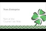 Trèfle de la Saint-Patrick Carte d'affaire - gabarit prédéfini. <br/>Utilisez notre logiciel Avery Design & Print Online pour personnaliser facilement la conception.