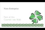 Trèfle de la Saint-Patrick Cartes Pour Le Bureau - gabarit prédéfini. <br/>Utilisez notre logiciel Avery Design & Print Online pour personnaliser facilement la conception.