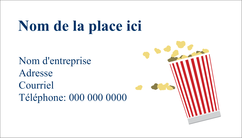 """3"""" x 5"""" Cartes Pour Le Bureau - Popcorn et film"""