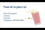Popcorn et film Cartes Pour Le Bureau - gabarit prédéfini. <br/>Utilisez notre logiciel Avery Design & Print Online pour personnaliser facilement la conception.