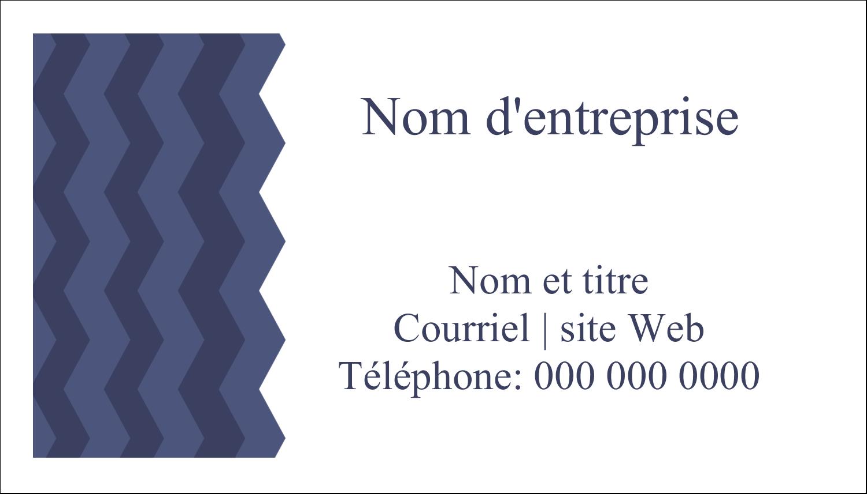 """3"""" x 5"""" Cartes Pour Le Bureau - Chevron bleu"""