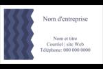 Chevron bleu Cartes Pour Le Bureau - gabarit prédéfini. <br/>Utilisez notre logiciel Avery Design & Print Online pour personnaliser facilement la conception.