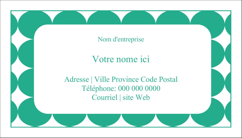 """3"""" x 5"""" Cartes Pour Le Bureau - Cercles vert sarcelle"""