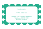 Cercles vert sarcelle Cartes Pour Le Bureau - gabarit prédéfini. <br/>Utilisez notre logiciel Avery Design & Print Online pour personnaliser facilement la conception.