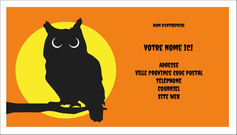"""3"""" x 5"""" Cartes Pour Le Bureau - Chouette d'Halloween"""