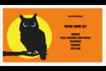Chouette d'Halloween Cartes Pour Le Bureau - gabarit prédéfini. <br/>Utilisez notre logiciel Avery Design & Print Online pour personnaliser facilement la conception.