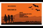 Enfants à l'Halloween Cartes Pour Le Bureau - gabarit prédéfini. <br/>Utilisez notre logiciel Avery Design & Print Online pour personnaliser facilement la conception.