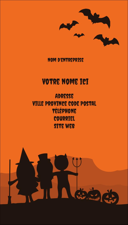"""5½"""" x 4-1/4"""" Carte de voeux - Enfants à l'Halloween"""