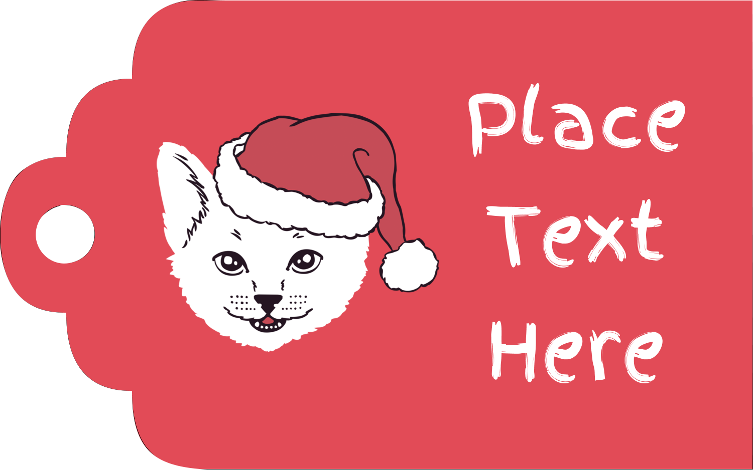 "2"" x 1⅛"" Printable Tags - Catmas Meowy"