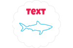 Dive in if you dare—customize your project with pre-designed Blue Sharks templates.