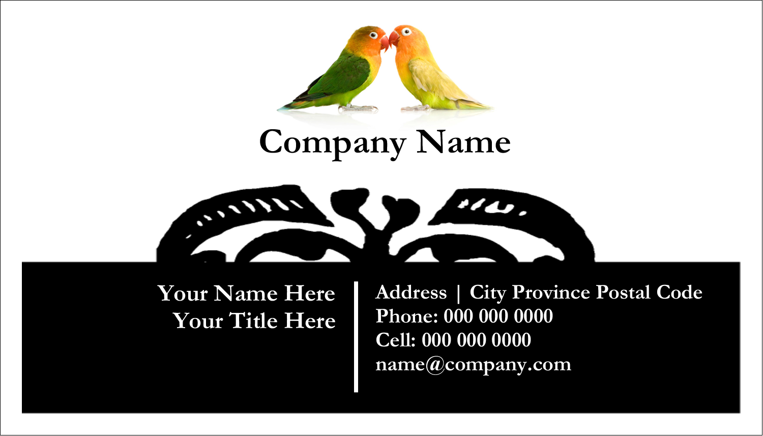 "2"" x 3½"" Business Card - Birds in Nature"