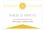 Petite icône d'agrume Cartes Et Articles D'Artisanat Imprimables - gabarit prédéfini. <br/>Utilisez notre logiciel Avery Design & Print Online pour personnaliser facilement la conception.