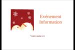 Bonhommes de neige rouges Étiquettes badges autocollants - gabarit prédéfini. <br/>Utilisez notre logiciel Avery Design & Print Online pour personnaliser facilement la conception.