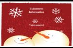 Bonhommes de neige rouges Badges - gabarit prédéfini. <br/>Utilisez notre logiciel Avery Design & Print Online pour personnaliser facilement la conception.