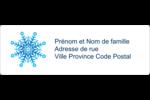 Flocon de neige Étiquettes à codage couleur - gabarit prédéfini. <br/>Utilisez notre logiciel Avery Design & Print Online pour personnaliser facilement la conception.