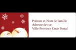 Bonhommes de neige rouges Étiquettes à codage couleur - gabarit prédéfini. <br/>Utilisez notre logiciel Avery Design & Print Online pour personnaliser facilement la conception.