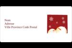 Bonhommes de neige rouges Étiquettes Polyvalentes - gabarit prédéfini. <br/>Utilisez notre logiciel Avery Design & Print Online pour personnaliser facilement la conception.