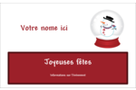 Globe de bonhomme de neige Étiquettes badges autocollants - gabarit prédéfini. <br/>Utilisez notre logiciel Avery Design & Print Online pour personnaliser facilement la conception.